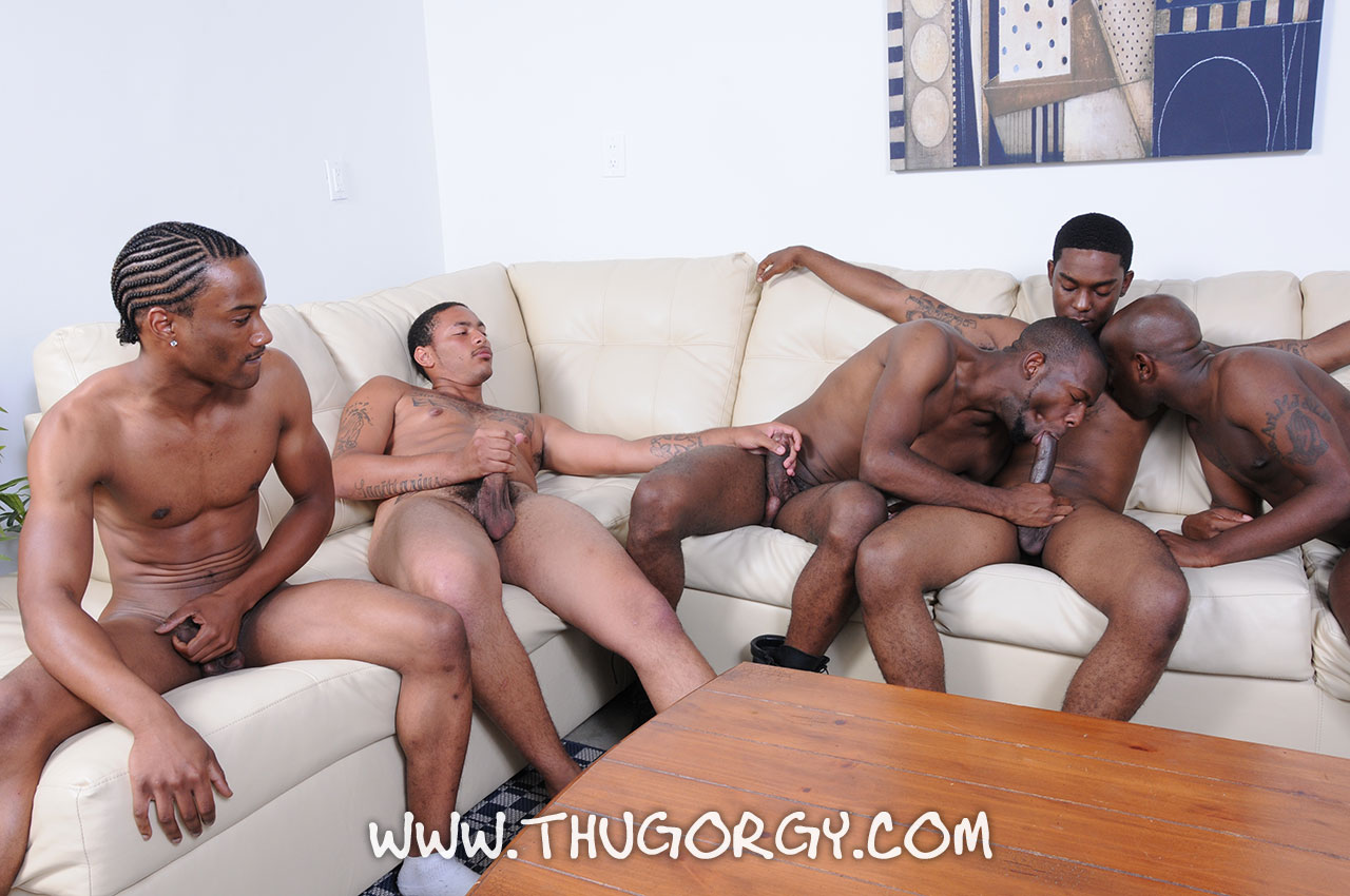 ThugOrgy-Angel-Boi-Intrigue-Kash-Mr-Magic-Ramon-Steele-Big-Black-Cock-Sucking-Amateur-Gay-Porn-11 Five Amateur Black Thugs With Big Black Cocks Having A Cock Sucking Orgy