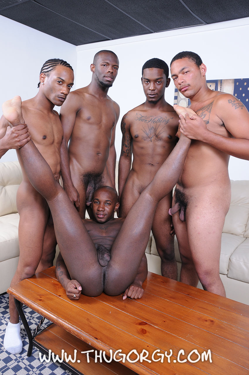 Black gay male orgy