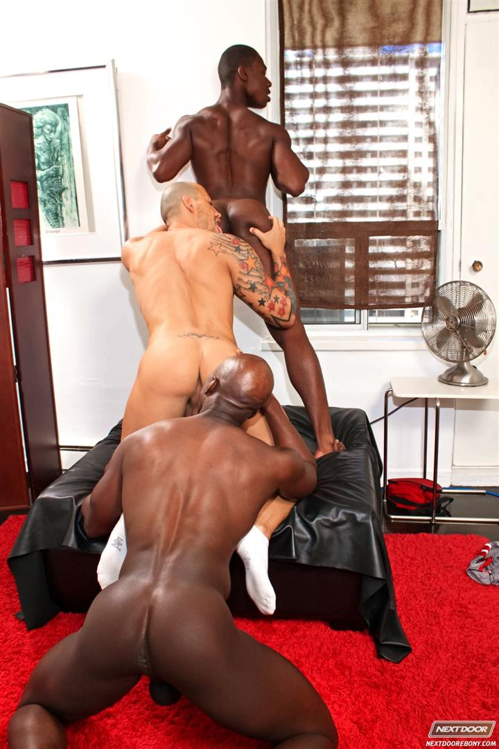 Next-Door-Ebony-Jordano-Santoro-and-Jay-Black-and-Damian-Brooks-Interracial-Gay-Fucking-Threeway-Amateur-Gay-Porn-11 Interracial Muscle Couple Picks Up A Black Muscle Stud In The Park