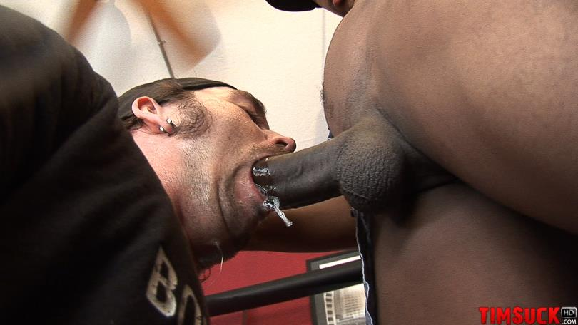 "Treasure Island Media TimSuck Trevor and Javin Big Black Cock Sucking Amateur Gay Porn 06 White Guy Worshipping A 13"" Black Cock Until It Shoots In His Mouth"