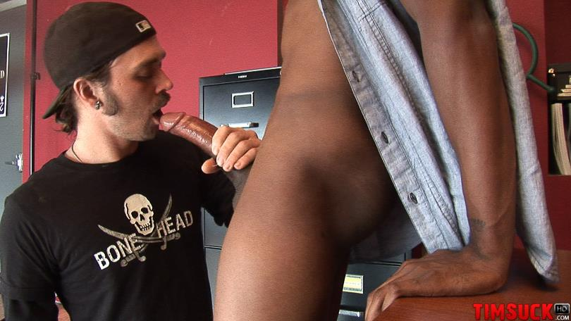 "Treasure Island Media TimSuck Trevor and Javin Big Black Cock Sucking Amateur Gay Porn 08 White Guy Worshipping A 13"" Black Cock Until It Shoots In His Mouth"