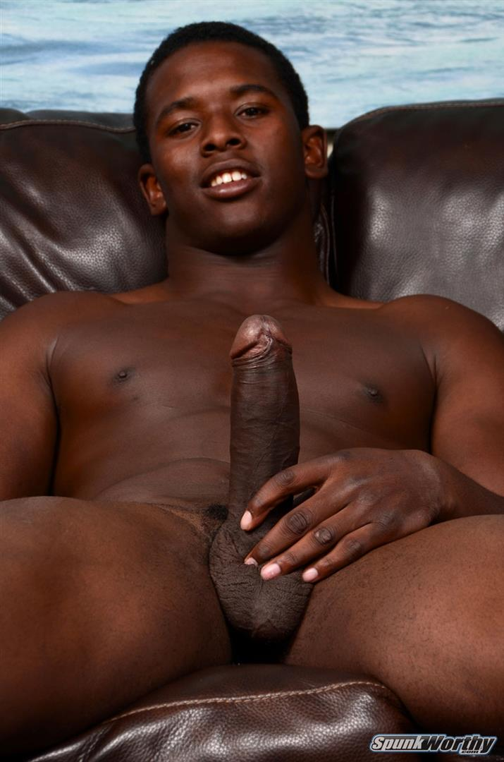 SpunkWorthy Heath Naked College Football Player Stroking His Big Black Cock Amateur Gay Porn 06 Straight College Football Player Jerking His Big Uncut Black Cock