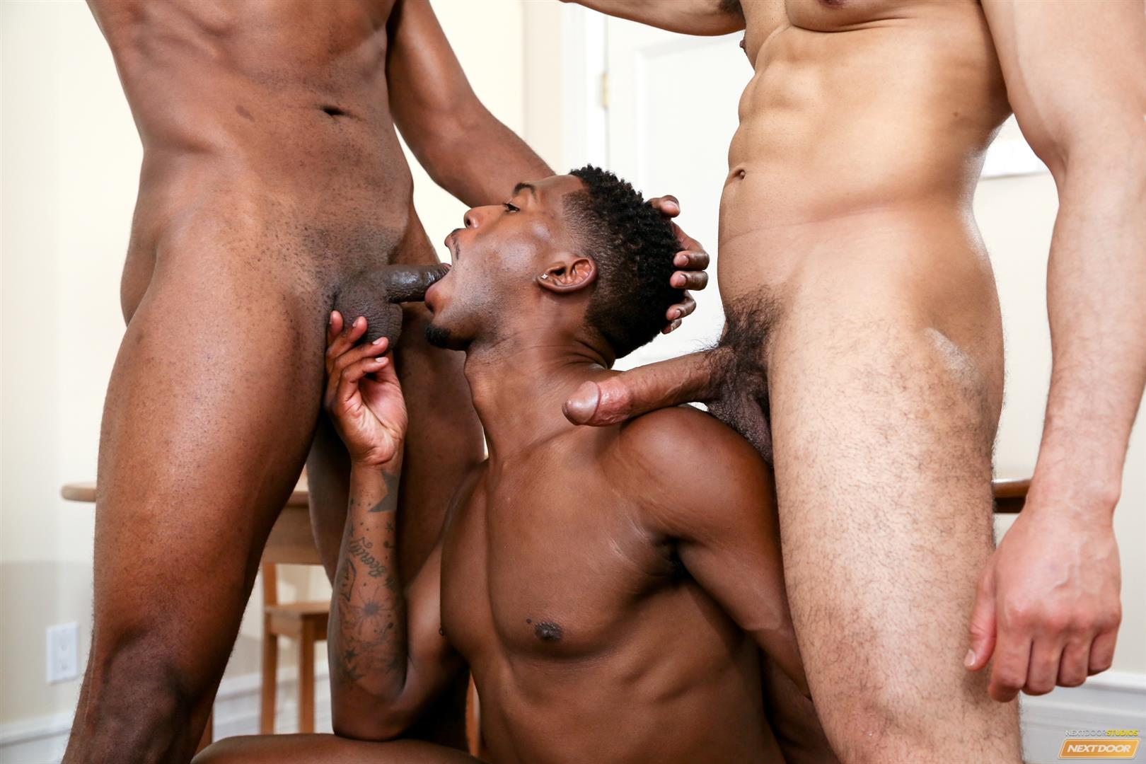 Next-Door-Ebony-Krave-Moore-and-Andre-Donovan-and-Rex-Cobra-Big-Black-Cock-Amateur-Gay-Porn-09 Three Black Guys Playing Strip Dominoes With Their Big Black Cocks